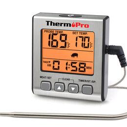 Аксессуары для грилей и мангалов - Термометр для коптильни, термощуп для мяса с таймером, 0