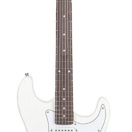 Электрогитары и бас-гитары - Fabio ST100 WH Электрогитара, 6 струн, S/S/S, цвет синий бёрст, 0