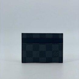 Визитницы и кредитницы - Визитница Louis Vuitton кожаная мужская/женская черная новая, 0