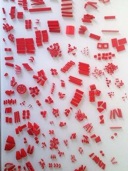 Конструкторы - Lego Лего красные оригинальные детали поштучно ., 0