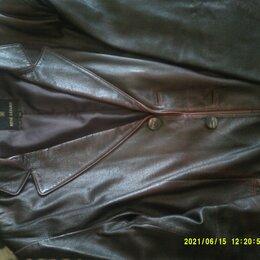 Пиджаки - Пиджак кожа натур.коричневая Италия Rene Lezard новый, 0