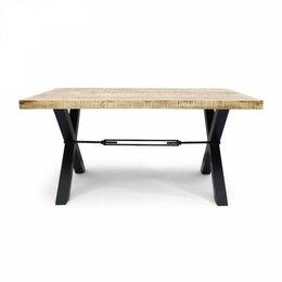 Столы и столики - Обеденный стол деревянный с черными ножками 160…, 0