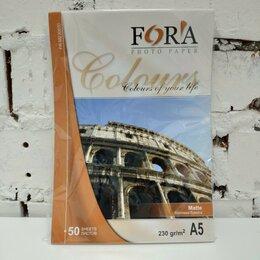 Бумага и пленка - Матовая 230 гр А5 50 листов Fora, 0
