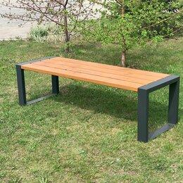 Скамейки - Скамейка садово-парковая «Forest» 1600 из термососны, MIROZDANIE, 0