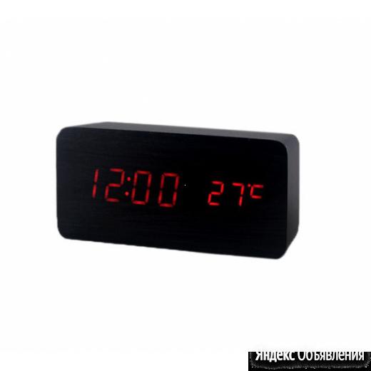 """""""Деревянные часы"""" электронные VST-862-1 по цене 990₽ - Часы настольные и каминные, фото 0"""