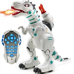 Радиоуправляемые игрушки - Радиоуправляемый интерактивный динозавр, стреляет ракетами + дышит паром - ZYB-B, 0
