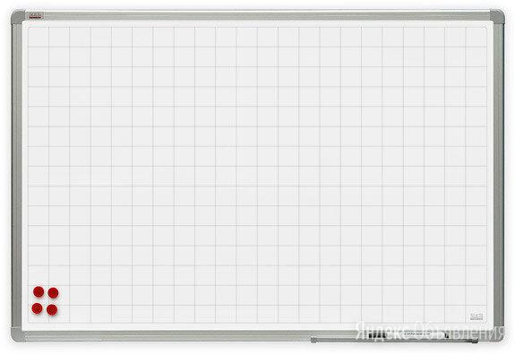 Доска магнитно-маркерная, разлинованная в клетку 120*180 см по цене 12450₽ - Доски, фото 0