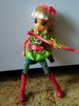 Куклы и пупсы - Кукла Equestria girls Эквестрия гёрлз Эппл Джек, 0