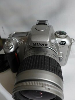 Пленочные фотоаппараты - NIKON F55  BODY пленочная,  nikkor 70-300, 0