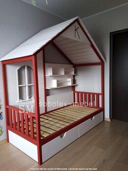 Кроватки - Кровать шалаш с окошком и полочками, 0