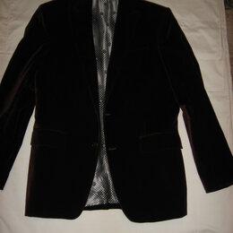 Пиджаки - Пиджак мужской бархатный бордовый новый KENZO 48 размер, 0