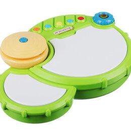Детские музыкальные инструменты - Барабан музыкальный, свет, звук, 3АА, ABS, 27х19х6,5см , 0