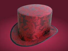 Головные уборы - Нарядная свадебная шляпа цилиндр красного цвета…, 0