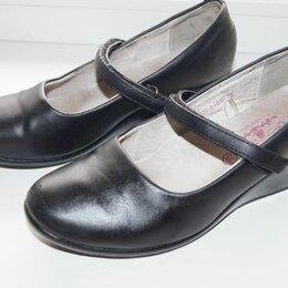 Балетки, туфли - Туфли школьные чёрные на девочку 35 кожа натуральная, 0