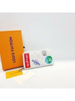 Кошельки - Кошелек Louis Vuitton белый кожа + канва женский…, 0