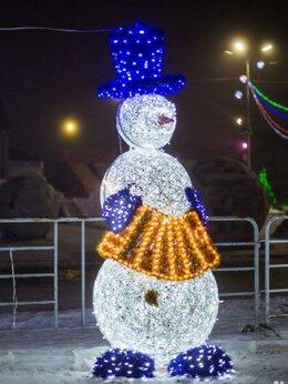 """Новогодний декор и аксессуары - Световая фигура """"Снеговик с аккордеоном"""", 0"""