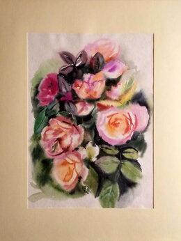 Картины, постеры, гобелены, панно - Розы. Акварель.…, 0