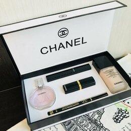 Наборы - Набор Chanel Шанель  5 в 1 с тональным кремом, 0