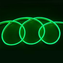 Светодиодные ленты - Гибкий неон 12в зеленый, 0