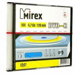 Диски - Диск DVD-R Mirex 4.7 Gb 16x Slim Case (5) (5/200), 0