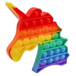 Игрушки-антистресс - POP IT Игрушка-антистресс единорог (цветная), 0