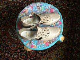 Туфли - Летние кожаные женские туфли светлые, 0