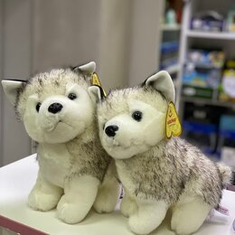 Мягкие игрушки - Мягкая игрушка собачка Хаски, 0