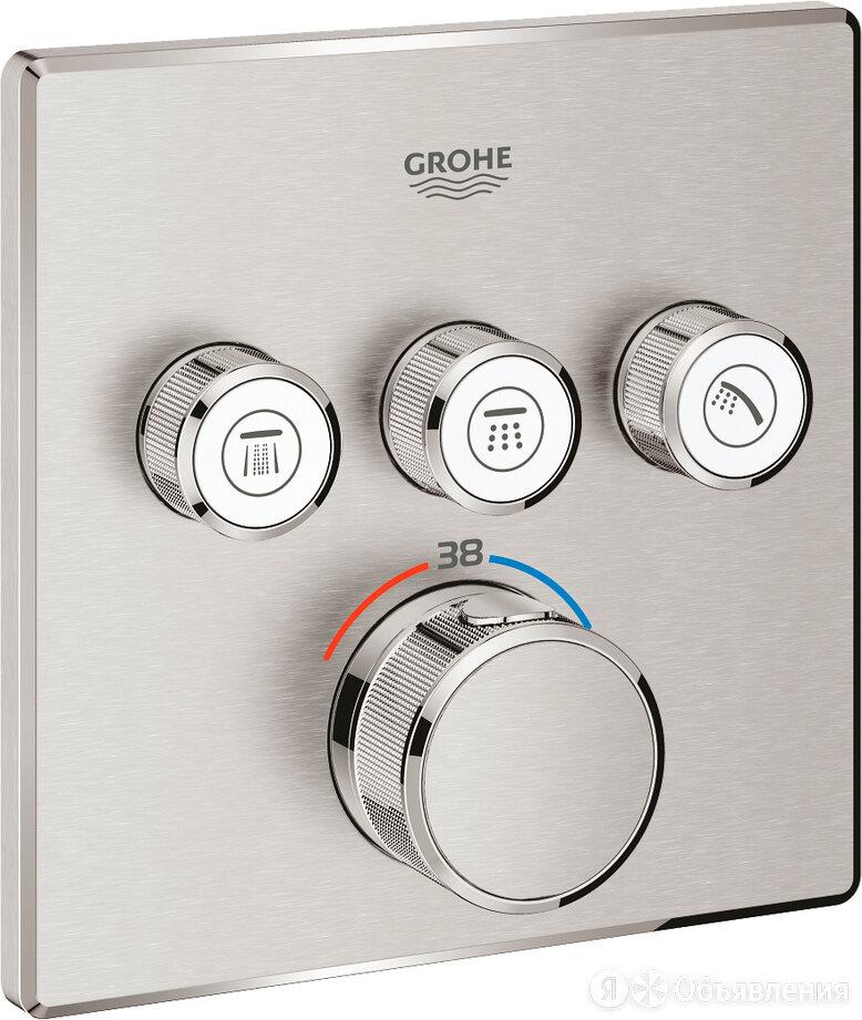 Термостат Grohe Grohtherm SmartControl 29126DC0 для душа, суперсталь по цене 64830₽ - Комплектующие, фото 0