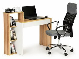 Компьютерные и письменные столы - Компьютерный стол, офисный стол + книжный шкаф 4…, 0