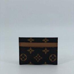 Визитницы и кредитницы - Визитница Louis Vuitton кожаная мужская/женская коричневая новая, 0