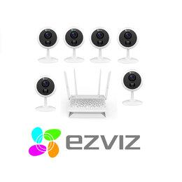 Камеры видеонаблюдения - Комплект на 6камер ezviz С1С (1080p) +Vault Plus, 0