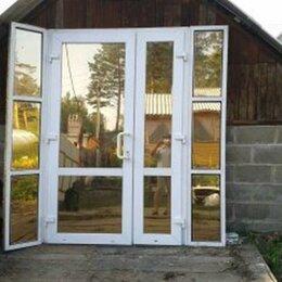 Входные двери - Пластиковые входные двери с тонированным стеклом, 0