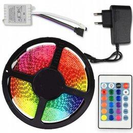 Светодиодные ленты - Светодиодная лента RGB разноцветная, 5 метров, 0