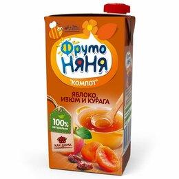 Продукты - Компот детский Фруто няня яблоко изюм курага 500 г, 0