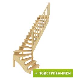 Бра и настенные светильники - Лестница К-001м/3 с подступенками П бук, 0