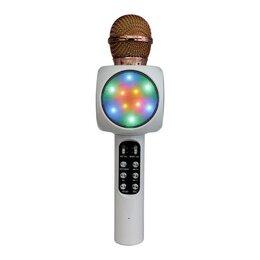 Микрофоны - Светящийся Микрофон Караоке WS-1816 (белый), 0
