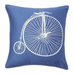 Подушки - Подушка с ретро-велосипедом Retro Bicycle Blue, 0