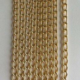 Цепи -    Декоративная цепочка металлическая Хай-тек 19n 3х6мм золото, 0