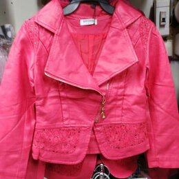 Куртки и пуховики - Куртка косуха эко кожа на 6,7 лет, 0