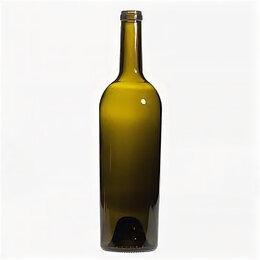 Бутылки - Бутылка винная 1.0 л Бордо оливковая, 0