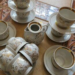 Кружки, блюдца и пары - Сервиз кофейный,позолота ГФЗ1970-80 гг., 0