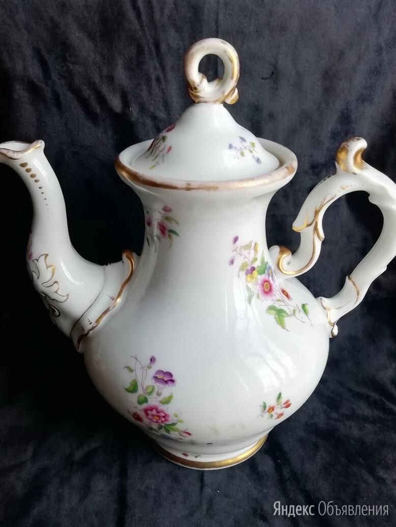 Антикварный высокий фарфоровый чайник по цене 15000₽ - Заварочные чайники, фото 0