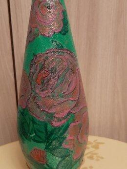 Этикетки, бутылки и пробки - Красивая бутылочка авторской работы из керамики, 0