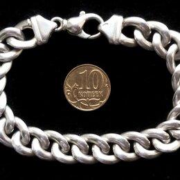 Браслеты - Серебряный браслет панцирного плетения.Вес 22,4 грамма,длина 20 см, 0