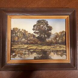 Картины, постеры, гобелены, панно - Картина,  пейзаж, холст/ масло 30х31 см./ пересыл, 0
