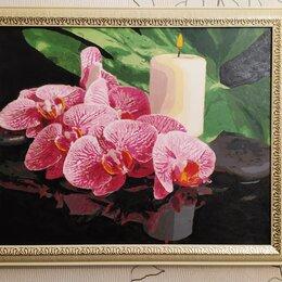 Картины, постеры, гобелены, панно - Чарующие орхидеи - новая картина 40*50 (холст), 0