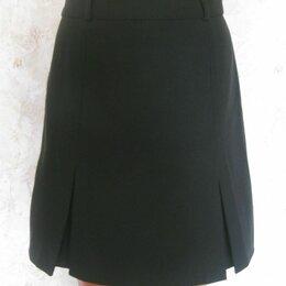 Юбки - Черная юбка с бантовыми складками, р.46, 0