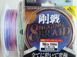 Леска и шнуры - Шнур GOSEN JIGGING 8 BRAID #0.8 (16lb)-200m, 0