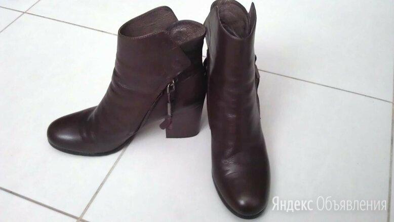 Ботильоны ботинки коричневые кожаные новые по цене 2800₽ - Ботильоны, фото 0