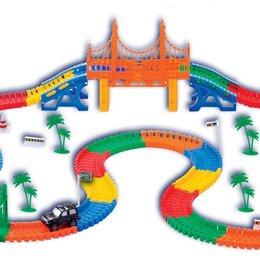 Машинки и техника - Мэджик трек 360 дет с мостом и развилкой, 0